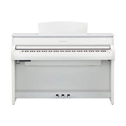 Yamaha CLP775 Clavinova Digital Piano with Bench in White - Front