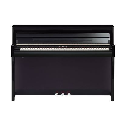 Yamaha CLP785 Clavinova Digital Piano with Bench in Polished Ebony - Front