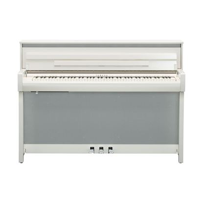 Yamaha CLP785 Clavinova Digital Piano with Bench in Polished White - Front