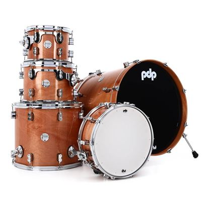PDP Concept Maple Exotic 5-Piece Acoustic Drumkit with 22in Bass Drum in Honey Mahogany