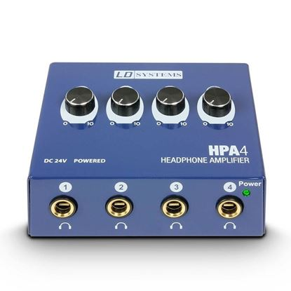 LD Systems HPA4 4-Channel Headphone Amplifier - Front
