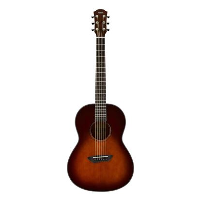 Yamaha CSF1M Travel Acoustic Guitar with Bag in Tobacco Brown Sunburst