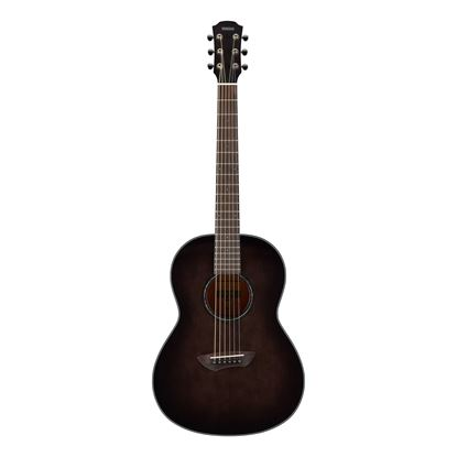 Yamaha CSF1M Travel Acoustic Guitar with Bag in Translucent Black - Front