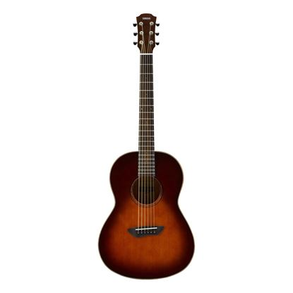 Yamaha CSF3M Travel Acoustic Guitar with Bag in Tobacco Brown Sunburst