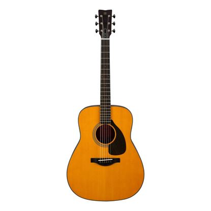 Yamaha FG5 Red Label Dreadnought Acoustic Guitar in Vintage Natural - Front