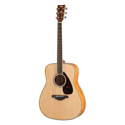 Yamaha FG840 Dreadnought Acoustic Guitar with Solid Spruce Top in Natural - Front