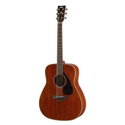 Yamaha FG850 Dreadnought Acoustic Guitar with Solid Spruce Top in Natural