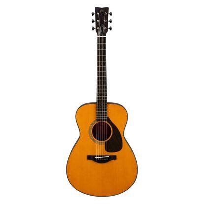 Yamaha FS5 Red Label Concert Size Acoustic Guitar in Vintage Natural - Front