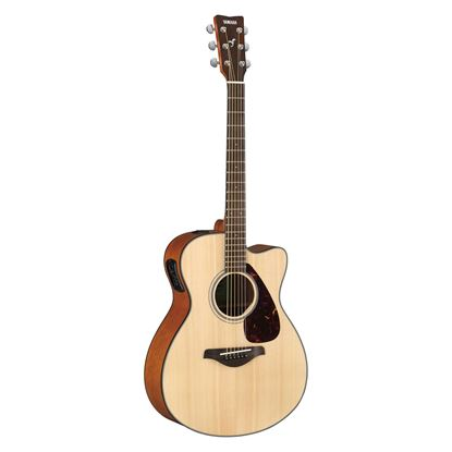 Yamaha FSX800C Dreadnought Acoustic Guitar with Solid Spruce Top in Natural