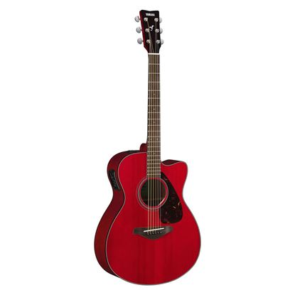 Yamaha FSX800C Dreadnought Acoustic Guitar with Solid Spruce Top in Ruby Red