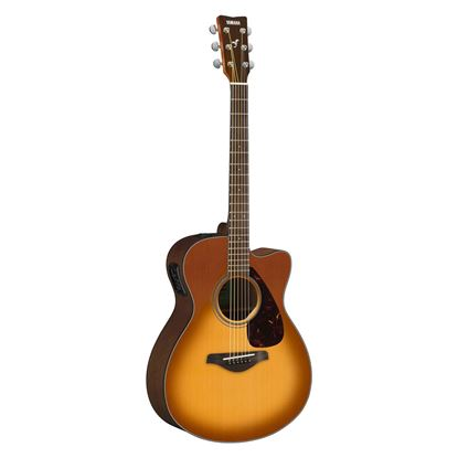 Yamaha FSX800C Dreadnought Acoustic Guitar with Solid Spruce Top in Sandburst