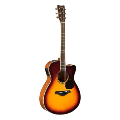 Yamaha FSX820C Dreadnought Acoustic Guitar with Solid Spruce Top in Brown Sunburst