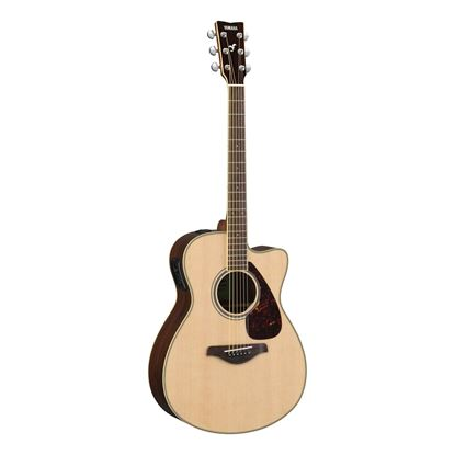 Yamaha FSX830C Dreadnought Acoustic Guitar with Solid Spruce Top in Natural
