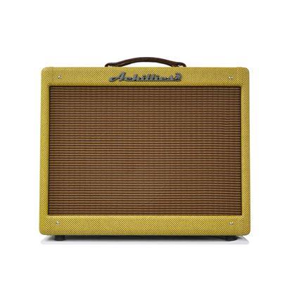 Achillies Vibrolux Guitar Combo Amplifier with Jensen P12R Speaker in Tweed - Front