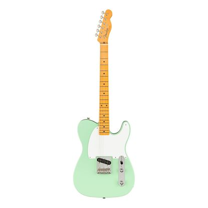 Fender 70th Anniversary Esquire Electric Guitar with Maple Finger Board in Surf Green - Front