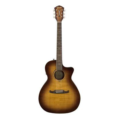 Fender FA-345CE Auditorium Acoustic Guitar 3-Tone Tea Burst - Front