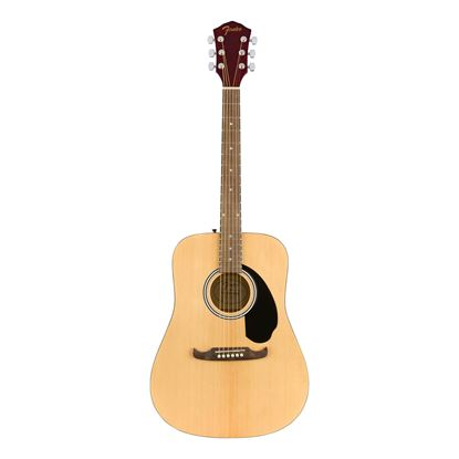 Fender FA-125 Dreadnought Acoustic Guitar with Walnut Fingerboard in Natural with Bag - Front