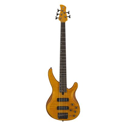Yamaha TRBX605 5-String Bass Guitar in Matte Amber