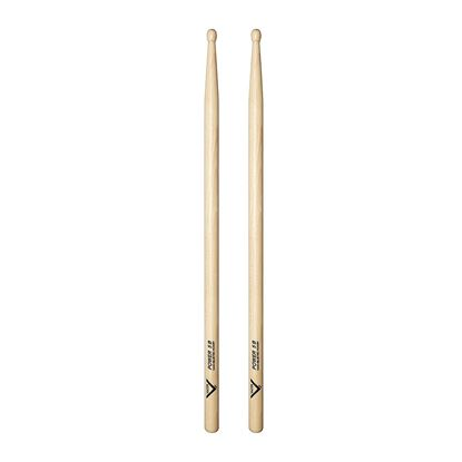 Vater VHP5BW American Hickory Power 5B Wood Tip Drumsticks