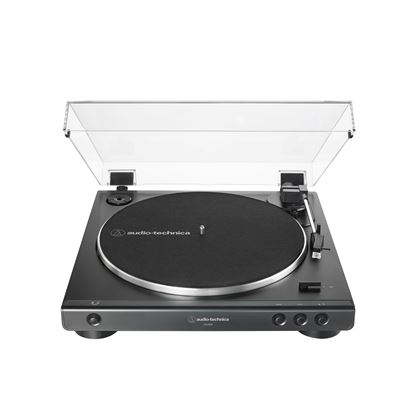 Audio Technica LP60X Fully Automatic Belt-Drive Stereo Turntable in Black - Front