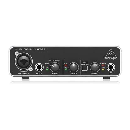 Behringer U-Phoria UMC22 2x2 USB Audio Interface - Front
