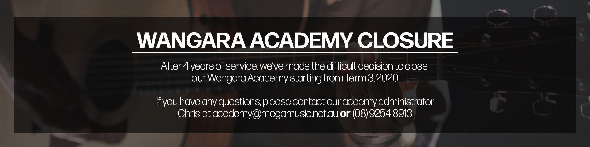 Wangara Academy Closure