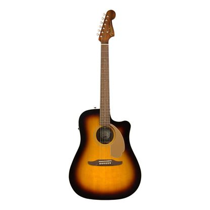 Fender Redondo Player Acoustic Guitar with Walnut Fingerboard in Sunburst - Front