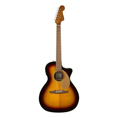 Fender Newporter Player Acoustic Guitar with Walnut Fingerboard in Sunburst - Front