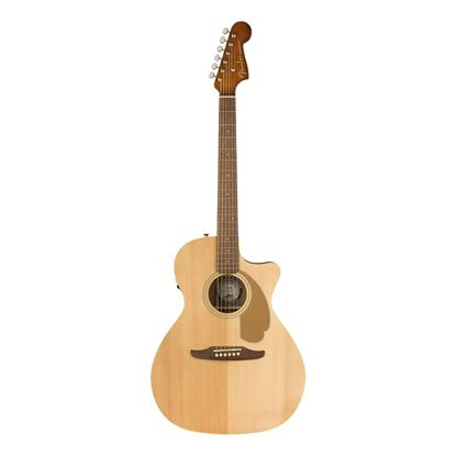 Fender Newporter Player Acoustic Guitar with Walnut Fingerboard in Natural - Front