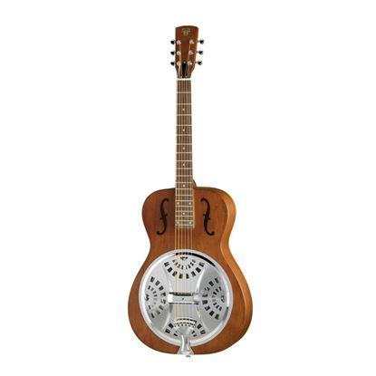 Epiphone Dobro Hound Dog Round Neck Resonator Guitar Vintage Brown - Front