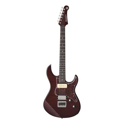 Yamaha PAC611H Pacifica Electric Guitar with Tinted Maple Neck in Root Beer Flamed Maple - Front