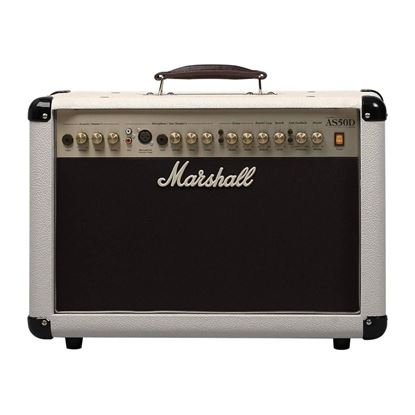 Marshall AS50DC 50W Acoustic Combo in Cream Tolex - Front
