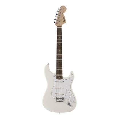 Squier FSR Affinity Series Stratocaster Electric Guitar with Laurel Fingerboard in Olympic White - Front