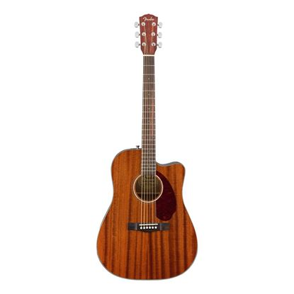 Fender CD-140SCE Dreadnought Acoustic Guitar with Walnut Fingerboard & Case in All-Mahogany