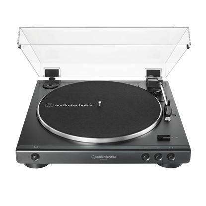 Audio Technica LP60XUSB Fully Automatic Belt-Drive Stereo Turntable (Analog & USB) in Black - Front