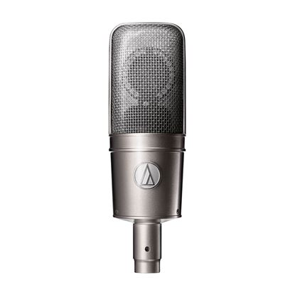 Audio Technica AT4047SV Large Diaphragm Cardioid Condenser with Shock Mount in Silver - Front