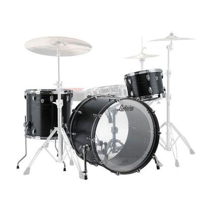 Ludwig Keystone X Fab Drumkit with 22in Bass Drum in Night Oak