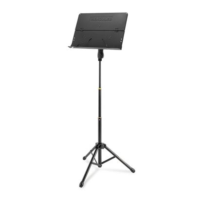 Hercules BS408B: 3-Section Music Stand with Foldable Desk