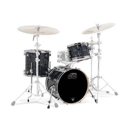 DW Performance Series Finish Ply 3 Piece 20 inch Shell Pack Rock Drum Kit - Black Diamond
