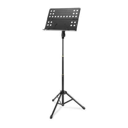 Hercules BS418B: Music Stand with Perforated Foldable Desk