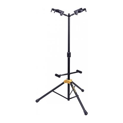 Hercules GS422B: Auto Grab Double Guitar Stand with Body Rest