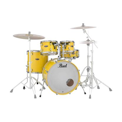 Pearl DMP925SP/C-228K Decade Maple Fusion Plus 5-piece Drumkit with 22in Bass Drum in Solid Yellow