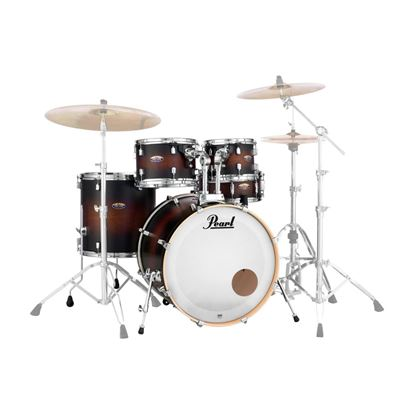 Pearl DMP925SP/C-260K Decade Maple Fusion Plus 5-piece Drumkit with 22in Bass Drum in Satin Brown Burst