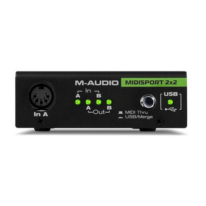 M-Audio MIDISport 2-In/2-Out Midi Interface - Front