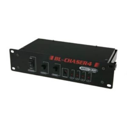 Brightlight Chaser4 Light Chaser Box - IEC Connectors - Angle