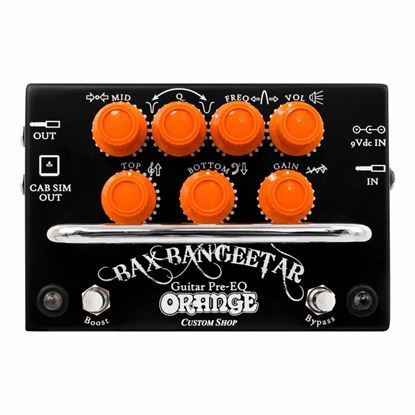 Orange Bax Bangeetar Effects Pedal - Front