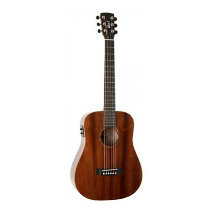 Cort AD Mini ME OP 3/4 Size Dreadnought Acoustic Guitar Open Pore in Natural with Bag