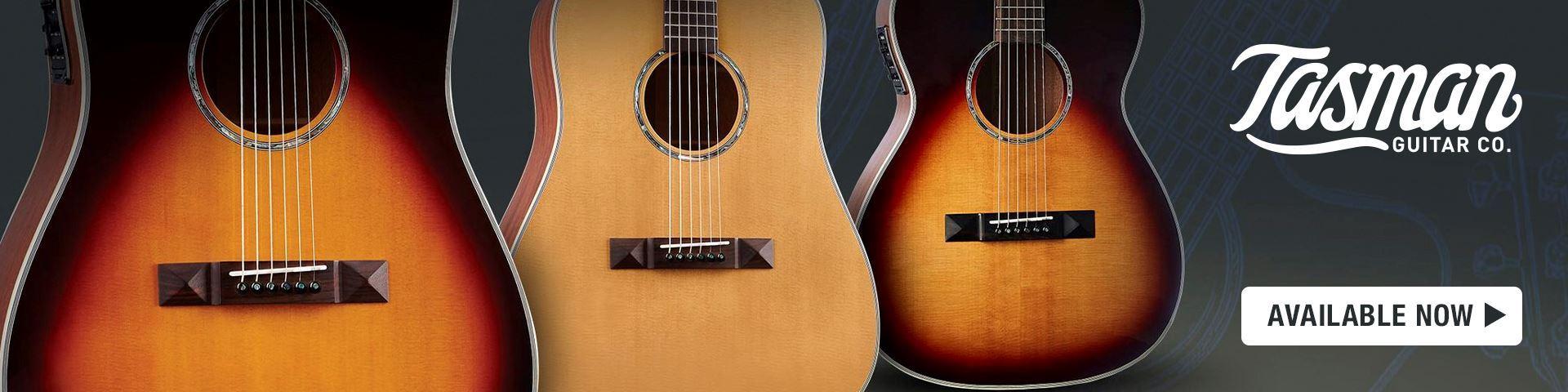 Tasman Acoustic Guitars at Mega Music, Perth.