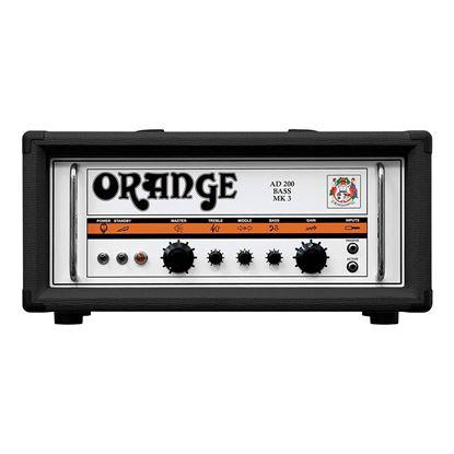Orange AD200BBK Bass Head in Black - Front