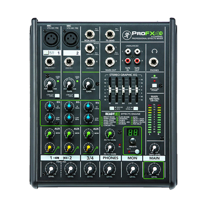 Mackie ProFX4 V2 4-channel Professional Effects Mixer - Top